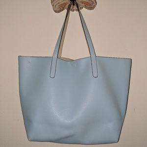 Light Blue / Cream Reversible Handbag